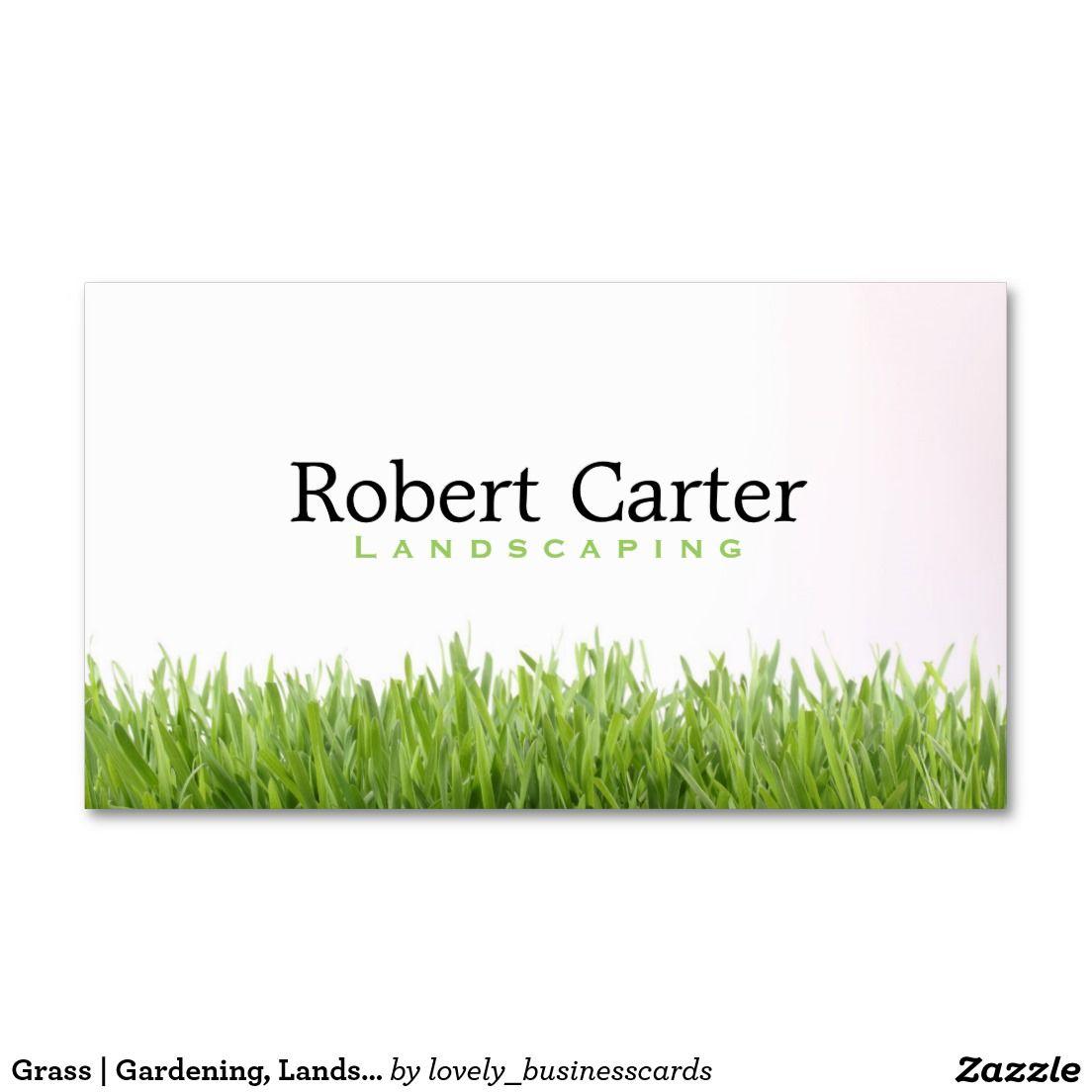 Grass Gardening, Landscaping Business Card