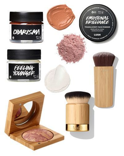 Wearing a Full Face of Zero Waste Biodegradable Makeup