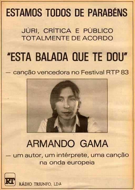 Armando Gama / Rádio Triunfo  [Se7e - Março 1983] http://viva80.pt/