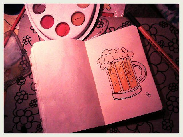 Kiss from a Rose: My Sketchbook 2017: Beer