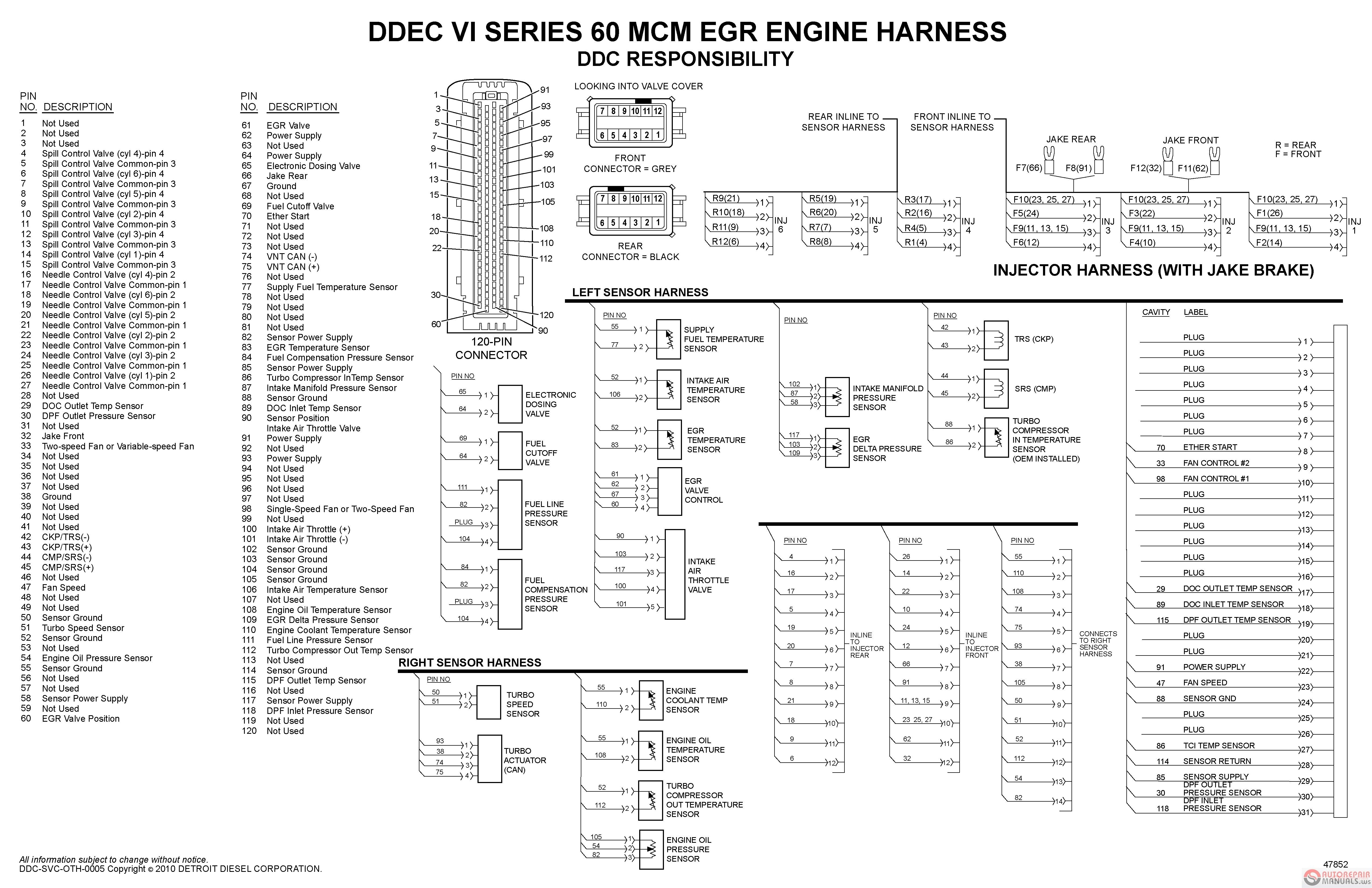 Detroit Diesel Series 60 Ecm Wiring Diagram Shouhui Me