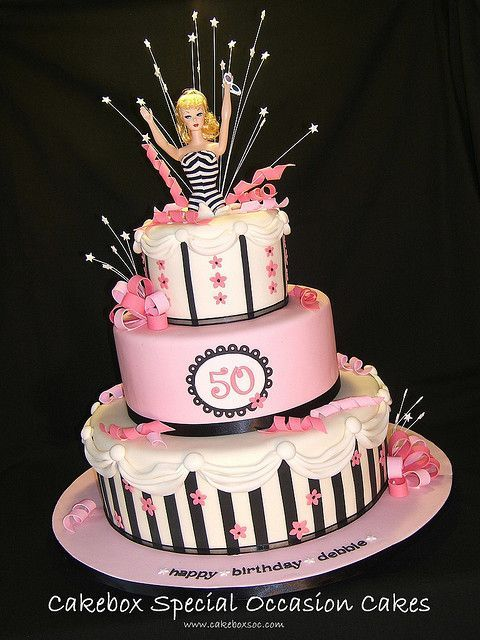 Barbie 50th Birthday by cakeboxsoc, via Flickr