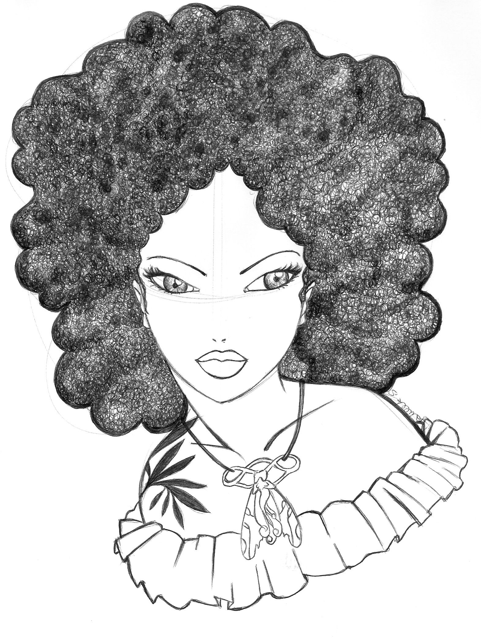 Angela wears her funny afro which gives her a poetic look. | art ...