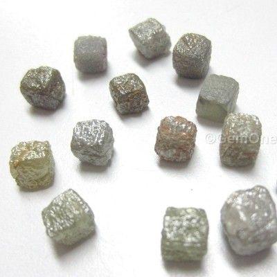 2 Carats 1 Natural Uncut ROUGH DIAMONDS Cubes Pendant