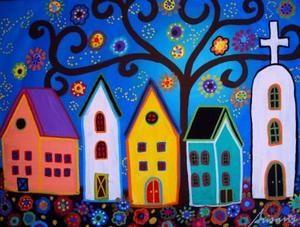 Traditional Mexican Art Mexican Folk Art Painting Modern Folk