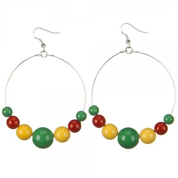 Jewelry - Rasta Earring Necklace set // e4Hats ❤ liked on Polyvore featuring jewelry, earrings, earring jewelry and earring necklace set