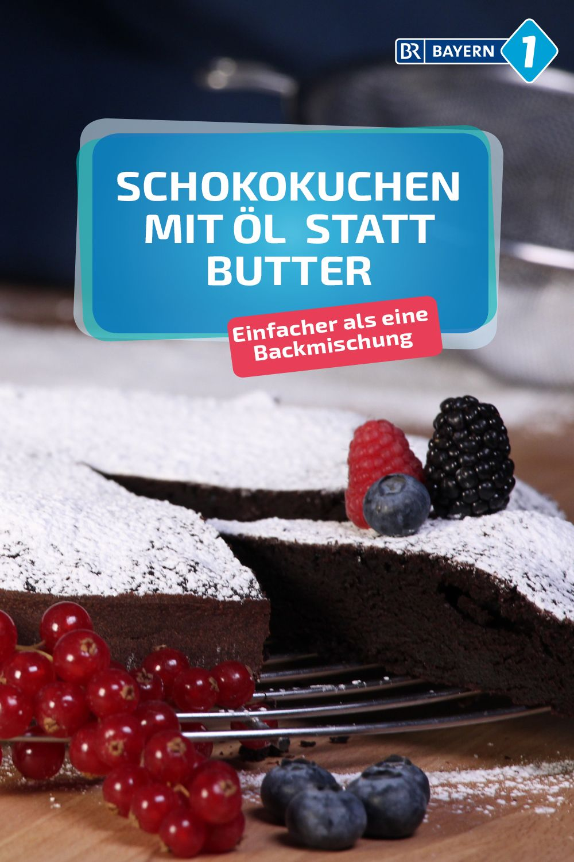 Schokokuchen: Saftiger Schokoladenkuchen mit Öl statt
