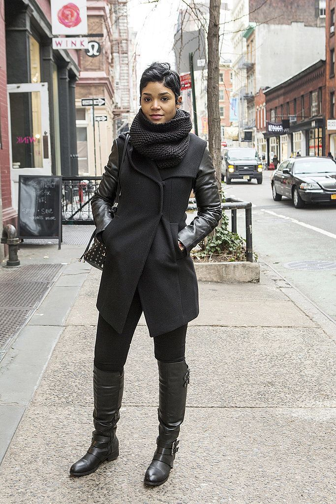 All About Fashion Fall Winter Looks From Black Girls: New York Outfits, Winter Outfits, Chic