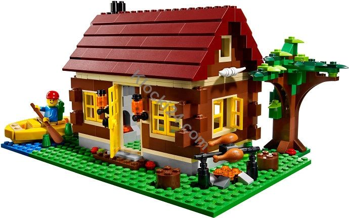 Lego 5766 Creator Log Cabin Lego Hasbro Mattel Playmobil