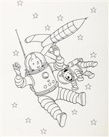 Tintin et Milou dans l'espace Hergé