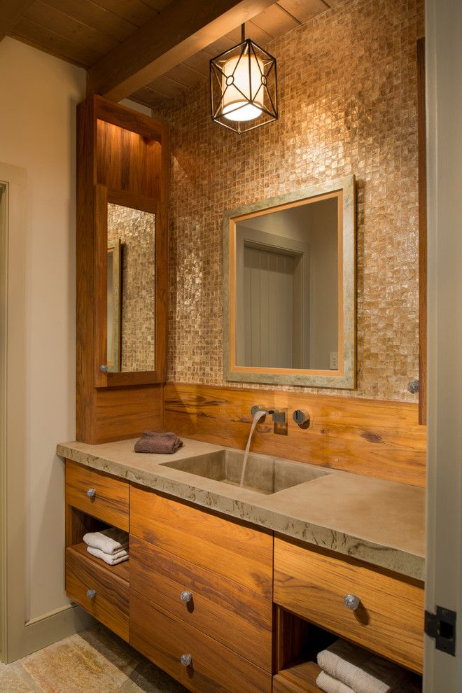 Nice Rustic Bathrooms Designs Best 2 Modern Rustic Small Bathroom Ideas