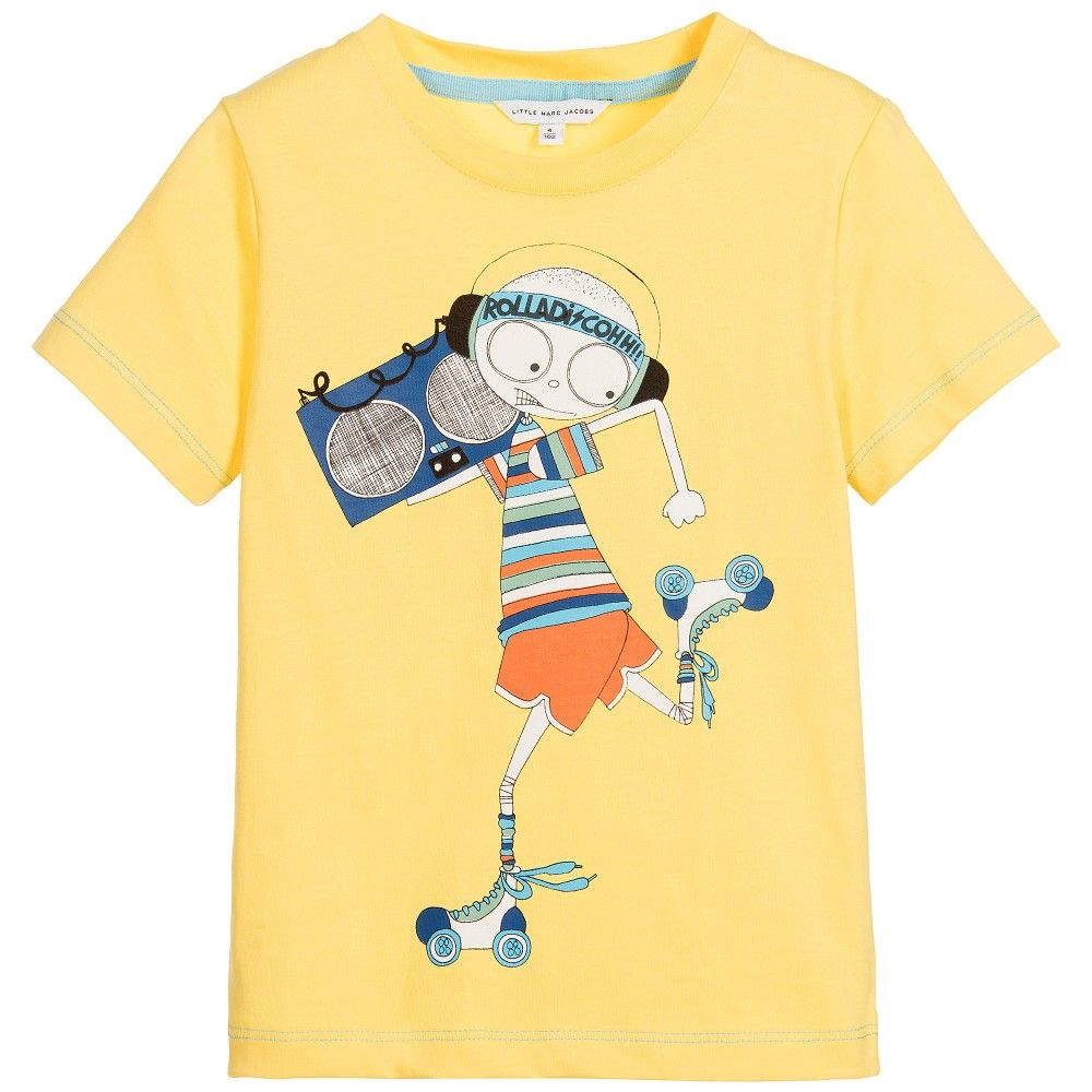 2fcd0f2ae Little Marc Jacobs - Boys Yellow Cotton T-Shirt     TOPS JUMPERS ...