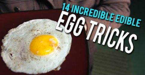 The egg is one of the most widely consumed foods on the planet, so it's about time we put together a list of nifty tricks involving eggs...