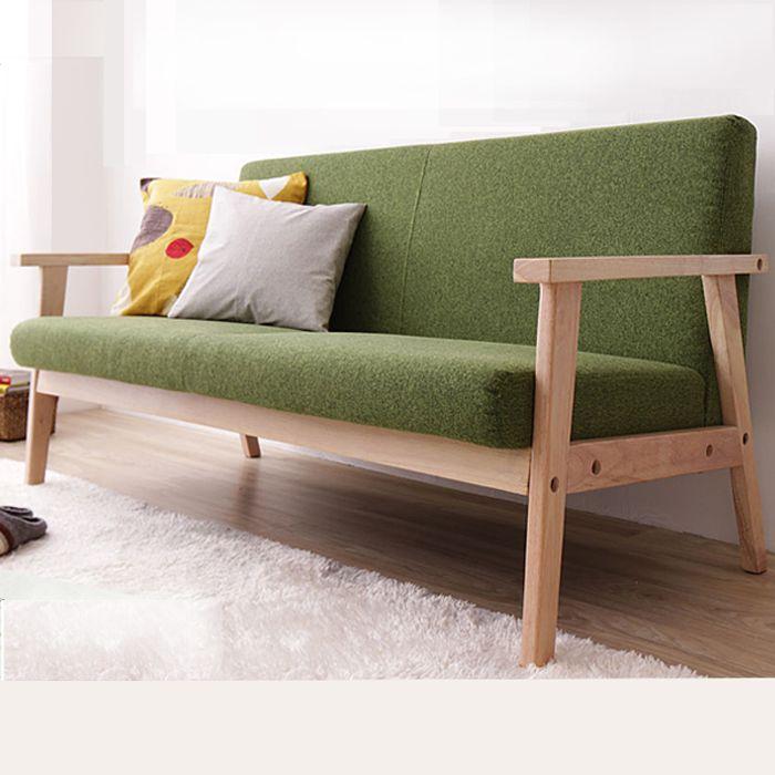 Simple Detachable Small Sofa Small Single Solid Wood Sofa Combination Furniture Wooden Sofa Designs Wood Sofa Small Sofa