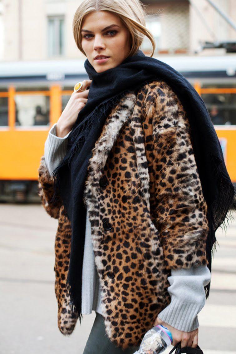 Fourrure LeopardStreet La Look Style Hiver Coat Must F3KluJ1Tc