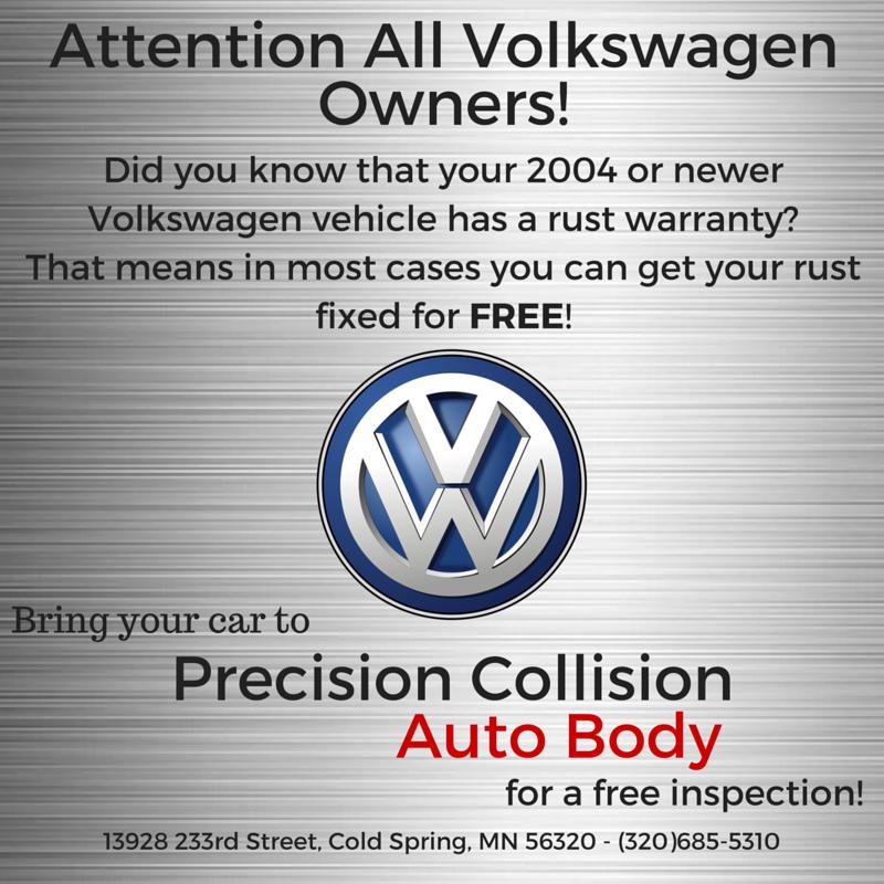 Pin By Precision Collision Auto Body On Volkswagen Rust Warranty