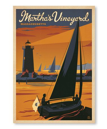 Love This Martha S Vineyard Wall Art On Zulily Zulilyfinds American Travel Posters Travel Posters American Travel