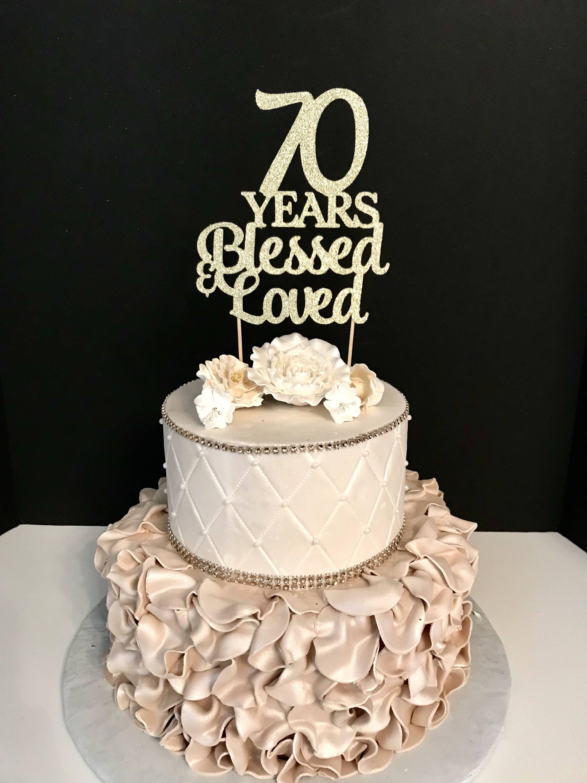 Any Number Birthday Cake Topper, Wedding Anniversary Cake