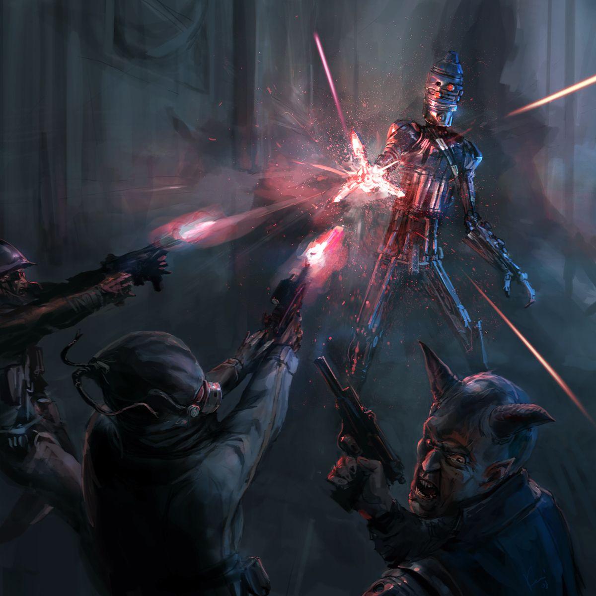 Swgtcg Blaster Reflective By Ukitakumuki Star Wars Art Star Wars Fan Art Star Wars Wallpaper