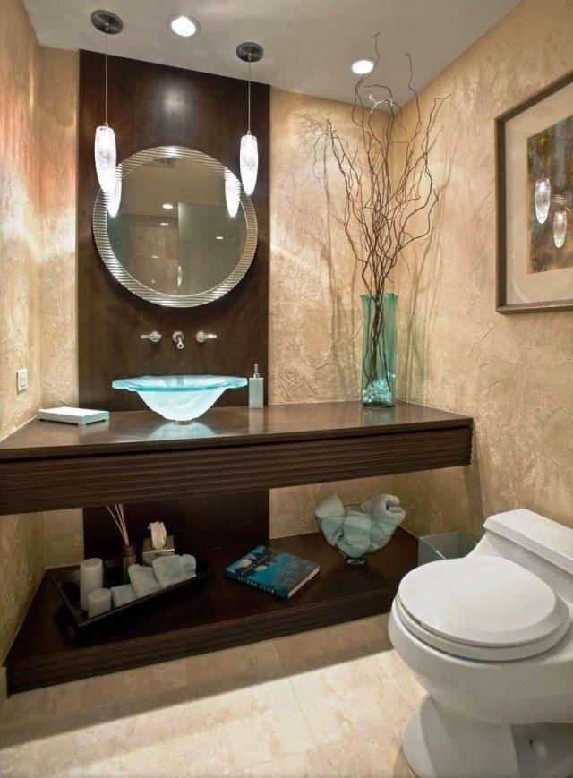 Peinture salle de bains pour agrandir lu0027espace restreint - peinture sur meuble bois