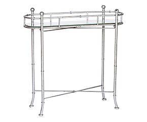 Consolle bar in metallo e top specchiato Melodie - 72x71x25 cm