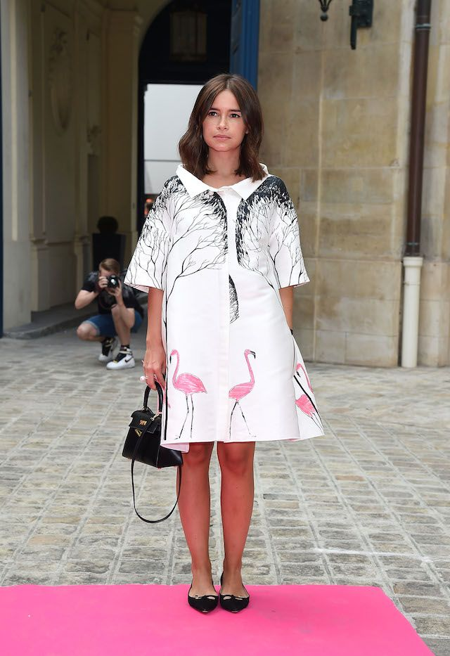 great print. Mira in Paris. #MiroslavaDuma