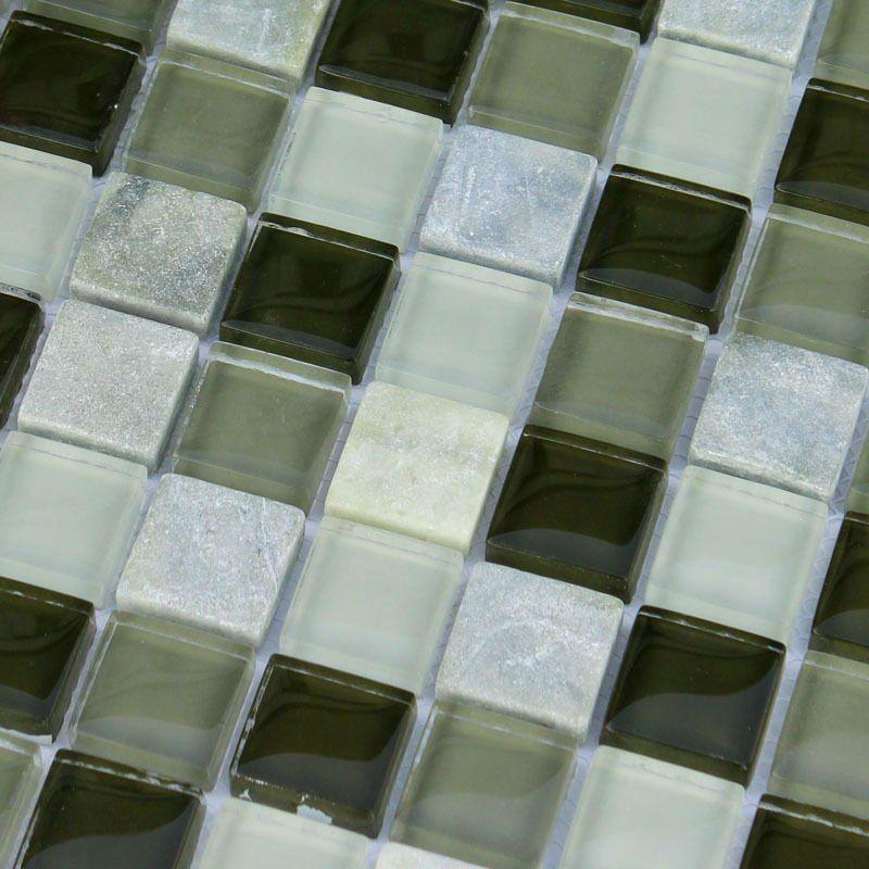 Crystal Mosaic Tile Sheet Black White Green Glass Mosaic Tile Backsplash Kitchen Mosaic Glass Mosaic Tiles