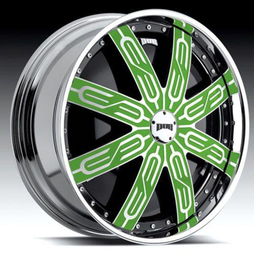 US $7,495.00 28x10 Wheels CHROME+BLACK RIMS Pkg 5 bolt 26 Starr 357