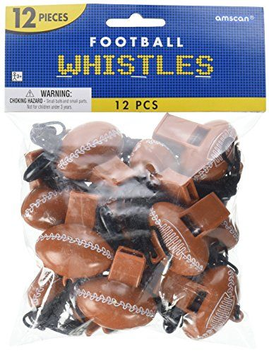 Party Perfect Football Mini Whistle Favours Plastic 2 x 1 Pack of 12 >>> Visit the image link more details. Note:It is affiliate link to Amazon.