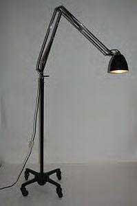 Rare Vintage Black Herbert Terry 1209 Anglepoise Industrial Floor