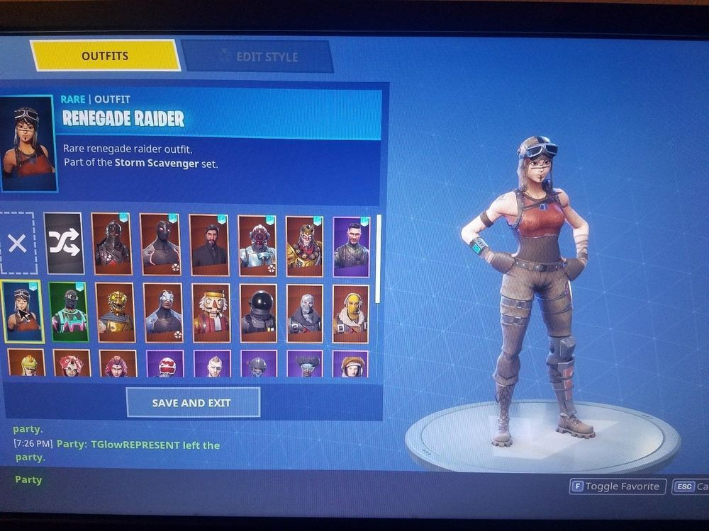 Extremely Rare Fortnite Account Renegade Raider Ext Read