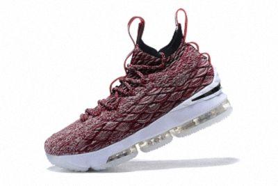 6126bdcd5dea1f 2018 Intricate Nike LeBron XV Wine White Mens Basketball Shoes 897649-201