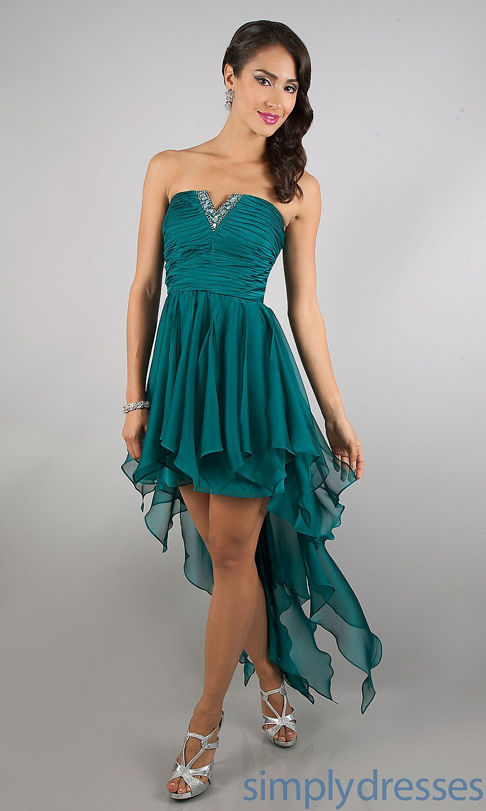 Morgan Party Dresses, High Low Semi Formal Dress, Simply Dresses ...