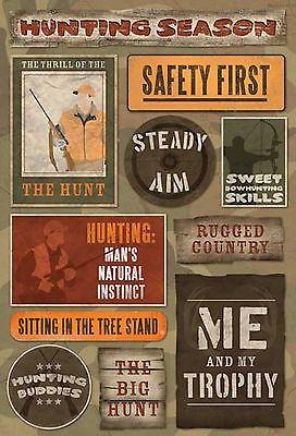 Karen Foster Stickers-THE HUNT scrapbooking TREE STAND BUDDIES TROPHY AIM
