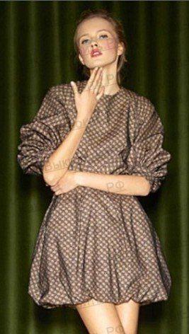 Платье баллон с рукавами