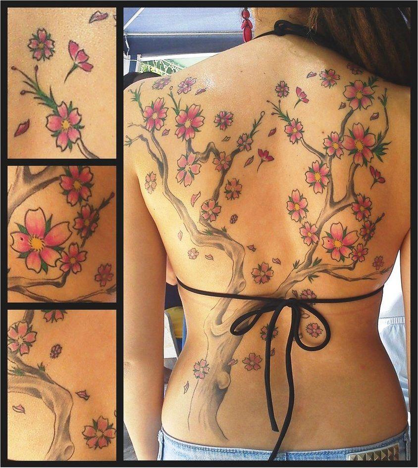 30 Cute Cherry Blossom Tattoo Designs Cherry Blossom Tree Tattoo Blossom Tree Tattoo Cherry Blossom Tattoo