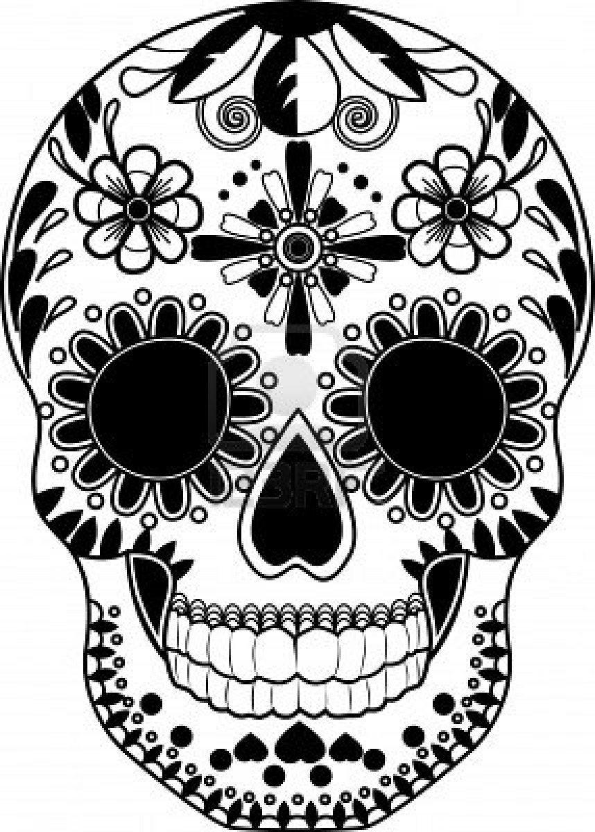 Gerelateerde Afbeelding Doodshoofd Illustratie Kunstprojecten Kleurplaten