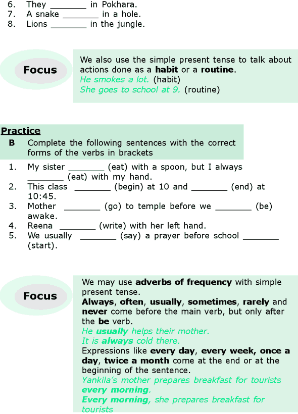 grade 6 grammar lesson 1 the simple present and the present continuous 1 present tense. Black Bedroom Furniture Sets. Home Design Ideas