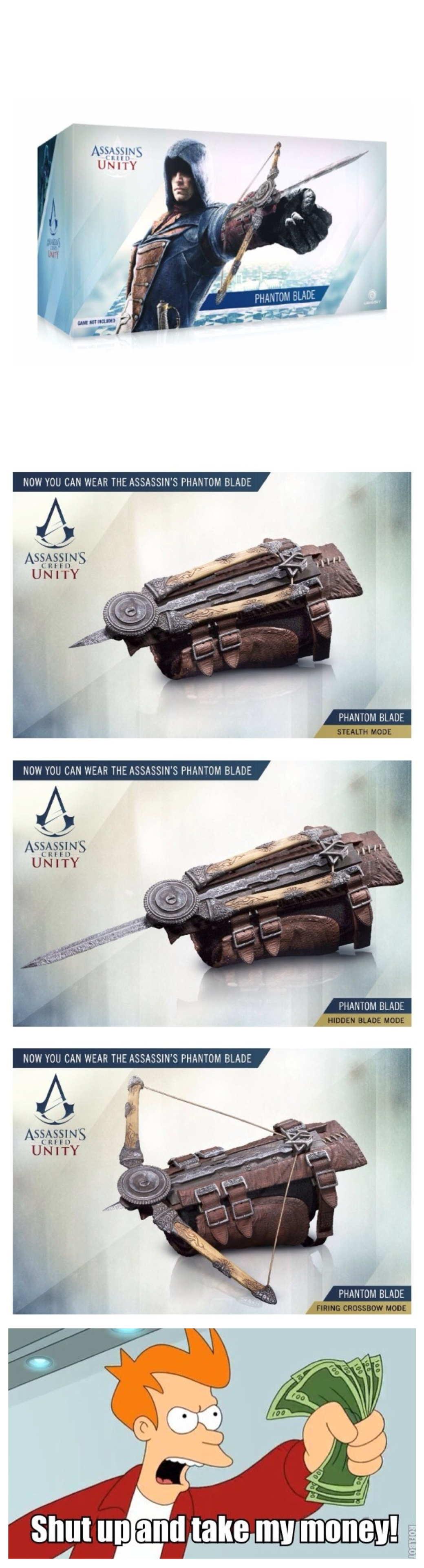 Assassin's creed unity (phantom blade) get it if you pre order the game