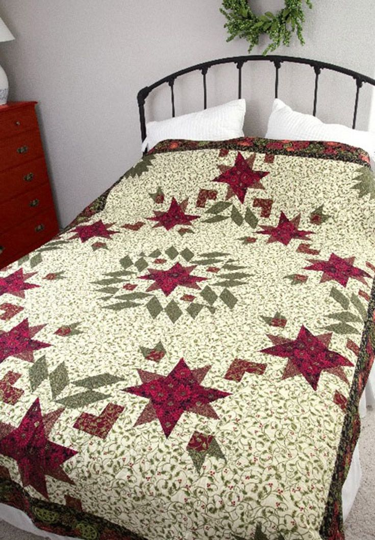 Piece a beautiful winter-themed quilt for the holidays and all ...