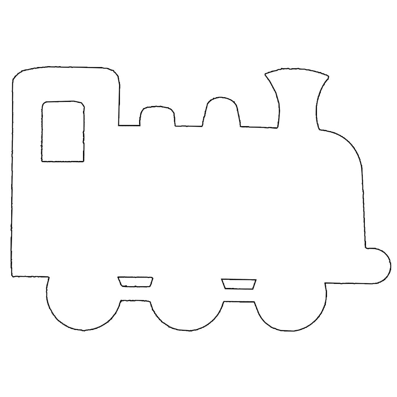 Simple Train Template Outline Printable