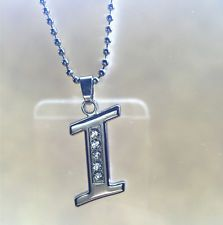 Unique Jewelry - NEW Fashion letters I name silver  crystal pendant necklace chain JEWELRY @1