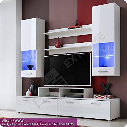 Living Room High Gloss Furniture Set Display Wall Unit Mo... https ...