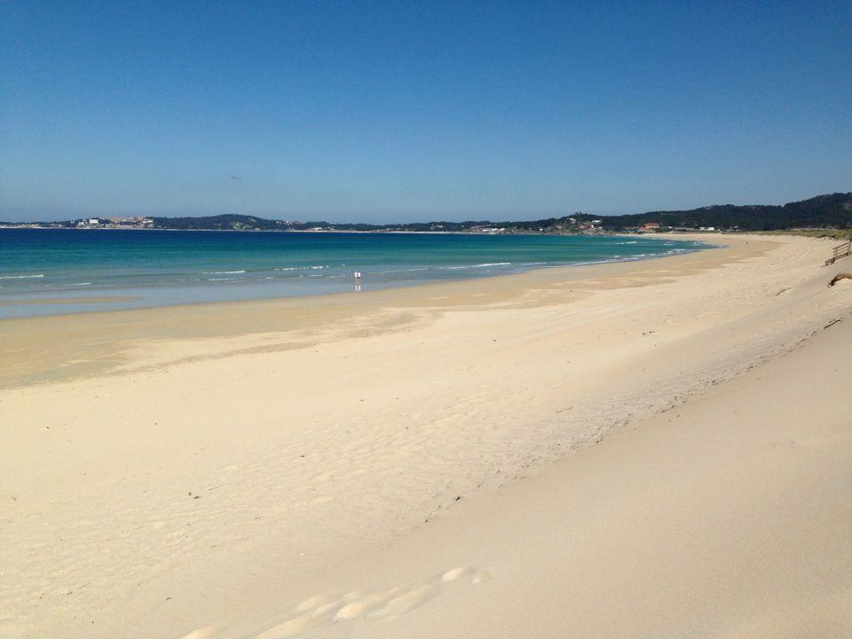 Playa de O Vao en A Illa de Arousa, Galicia