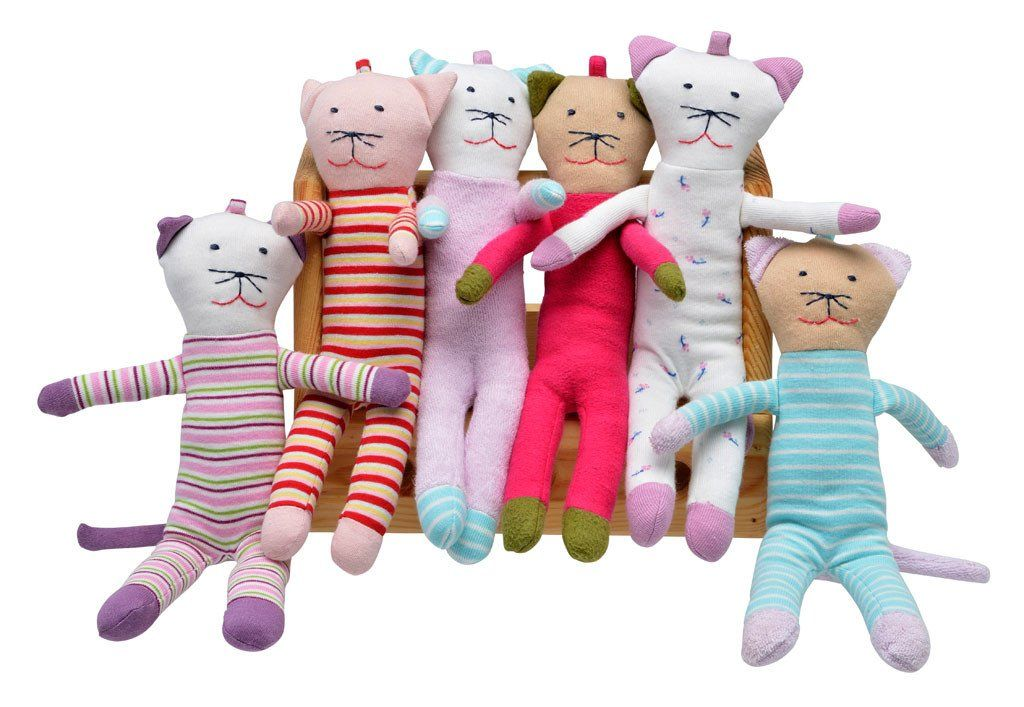 Scrappy Cat Assorted Colors Organic Stuffed Animals
