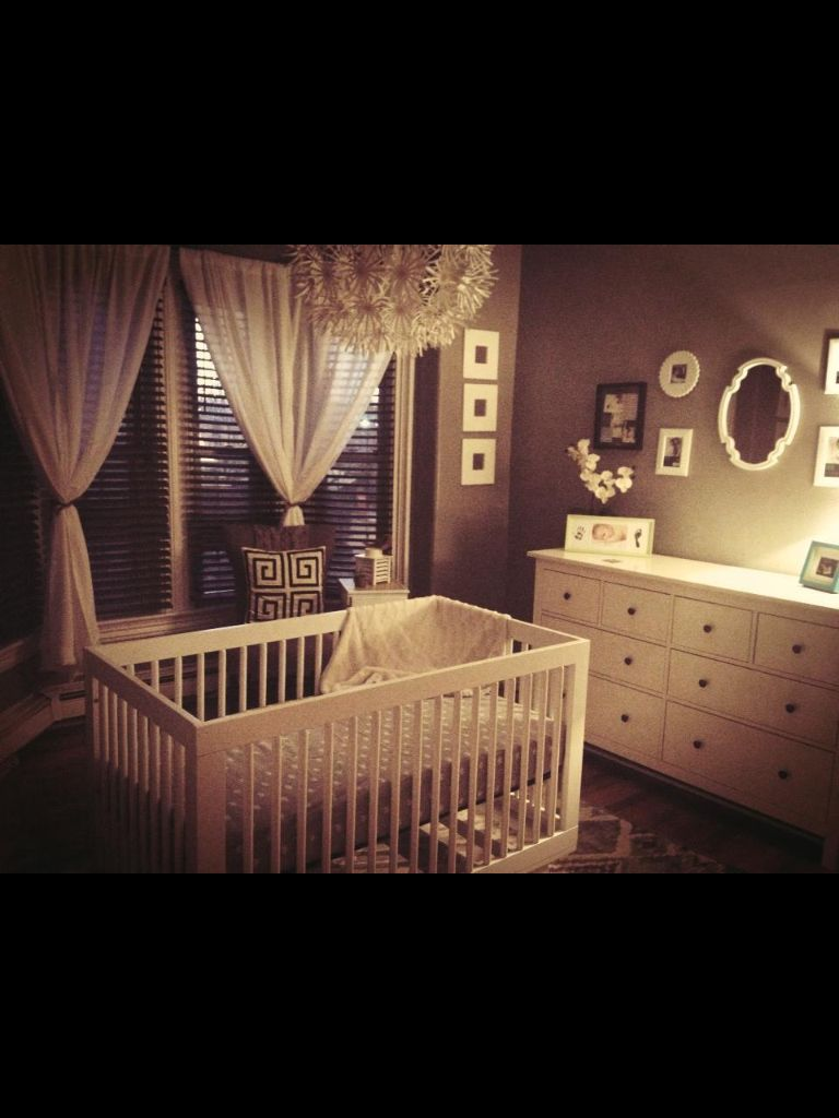 Nursery window ideas  our bay window baby nursery  home  pinterest  nursery baby and
