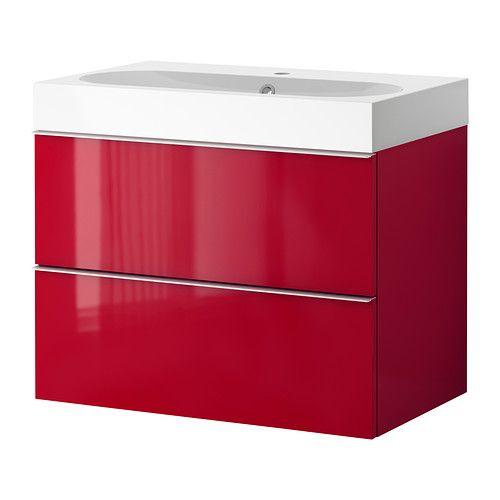 GODMORGON/BRÅVIKEN Meuble lavabo 2tir IKEA Garantie 10 ans gratuite