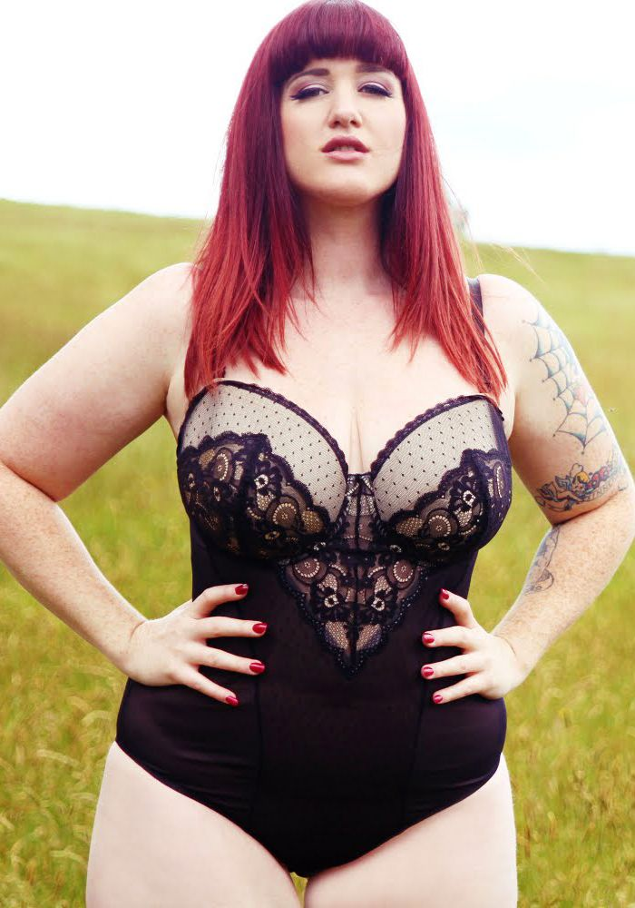curvy Red-Haired girl