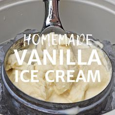 How to make homemade vanilla ice cream the old fashioned way using an ice cream maker. Family recipe and a summer staple for as long as I can remember. #flouronmyfingers #icecream #oldfashionedrecipes #desserts #homemadeicecream #icecreammachinerecipes