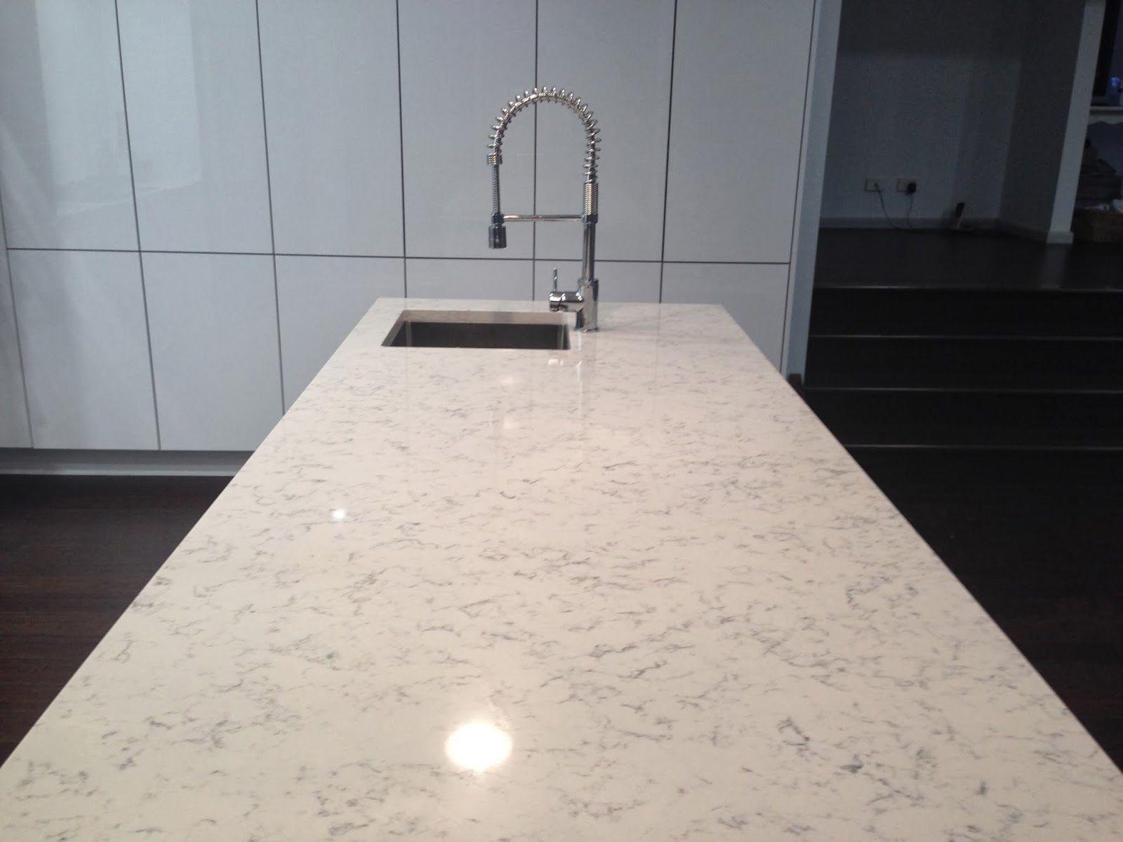 Marble Quartz Countertop White Slab Silestone Lyra Silestone